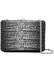 Rodo Crystal Embellished Clutch Bag Black