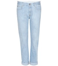 Stella Mccartney Star Distressed Boyfriend Jeans Blue