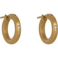 Linda Lee Johnson Women's Diamond And Gold Nony Hoops No Color