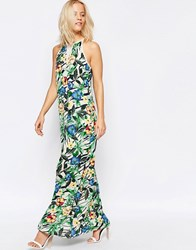 Girls On Film Maxi Dress In Tropical Floral Print Multi