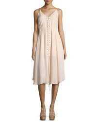 Haute Hippie Sleeveless Laced Silk Dress Ballet
