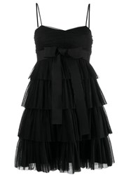 Red Valentino Bow Tulle Embellished Dress Black