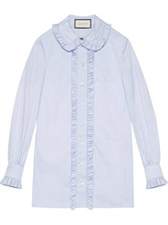 Gucci Oxford Shirt Women Cotton 42 Blue