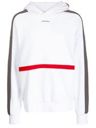 D.Gnak Color Block Hoodie White