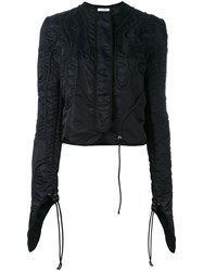 J.W.Anderson Fitted Jacket Women Polyamide 12 Black