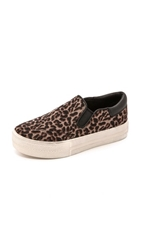 Ash Jam Leopard Haircalf Slip On Sneakers Smog Black