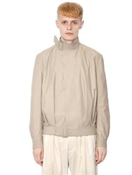 J.W.Anderson Belted Techno And Cotton Blend Jacket