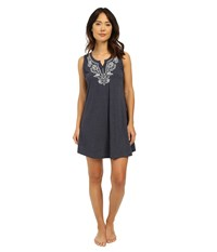 Lucky Brand Embroidered Chemise Navy Women's Pajama
