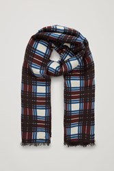 Cos Printed Reversible Scarf Red