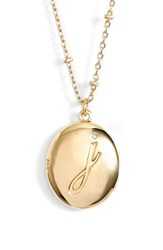 Women's Kate Spade New York Initial Locket Pendant Necklace Gold J