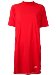 Nike 'Nsw' T Shirt Dress Red