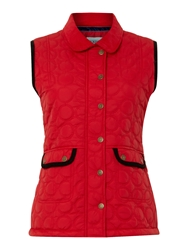 Dickins And Jones Chatsworth Quilted Gilet Red