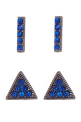 14Th And Union Geometric Stud Earrings Set Of 2 Blue