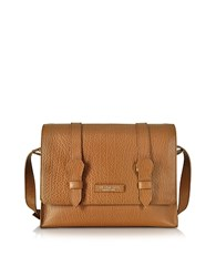 The Bridge Embossed Leather Messenger Cognac