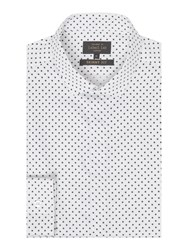 Label Lab Men's Otis Polka Dot Skinny Shirt White