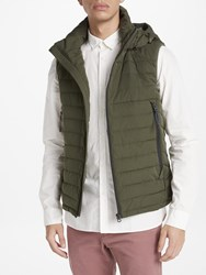 Scotch And Soda Quilted Hooded Gilet Military
