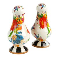 Mackenzie Childs Flower Market Salt And Pepper Shakers White