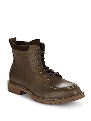 Cole Haan Suede And Leather Lace Up Boots Major Brown