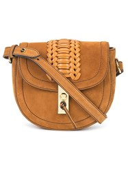 Altuzarra Mini 'Ghianda' Saddle Bag Brown