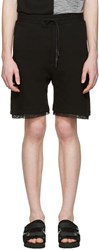 D By D Black Mesh Trimmed Lounge Shorts