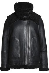 Joie Banjo Shearling Jacket Black