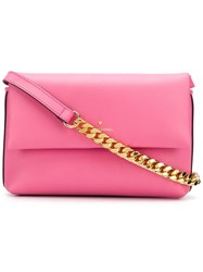 Philippe Model Foldover Top Shoulder Bag Pink