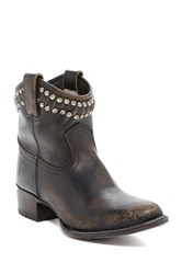 Frye Diana Cut And Studded Leather Short Boot Black