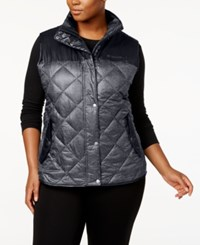 Columbia Plus Size Rio Dulce Printed Insulated Vest Charcoal