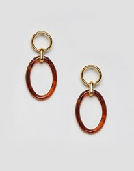 Gogo Philip Philipp Resin Hoop Earrings Brown