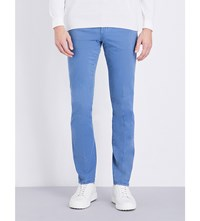 Boglioli Mid Rise Slim Fit Jeans Light Blue