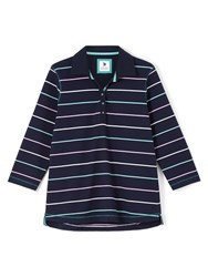 Dash Multi Colour Stripe Rugby Navy