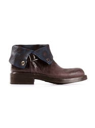 Alberto Fasciani Fold Over Ankle Boot Brown