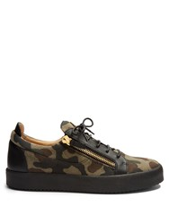 Giuseppe Zanotti Jeep Camouflage Print Low Top Trainers Black Multi