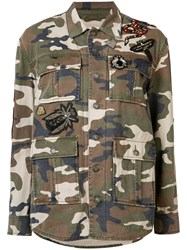 Cinq A Sept Camouflage Print Jacket Brown