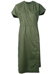 Sofie D'hoore Wrap Style Midi Dress Women Cotton 34 Green