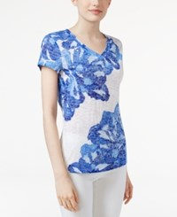 Inc International Concepts Embellished T Shirt Only At Macy's Botanical Peony