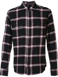 Paige Checked Button Down Shirt Black