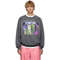 Acne Studios Grey Fletcher Video Print Sweatshirt