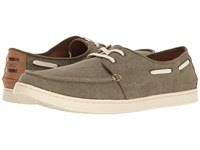 Toms Culver Lace Up Olive Washed Canvas Men's Lace Up Casual Shoes Brown