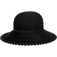 Eugenia Kim Women's Appliqued Blake Wide Brim Fedora Black Blue Black Blue