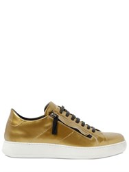 Bruno Bordese Zip Up Metallic Leather Sneakers
