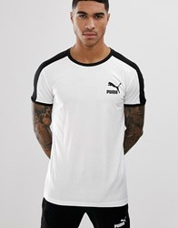 Puma T7 Muscle Fit T Shirt In White