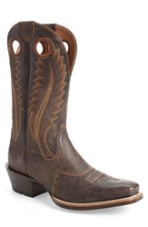 Ariat 'S High Desert Cowboy Boot Tack Chocolate Leather