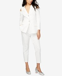 Rachel Roy Two Button Cold Shoulder Blazer Only At Macy's White