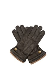 Dents Gloucester Leather Gloves Black