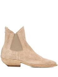 Officine Creative Zipped Chelsea Boots Neutrals