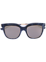 Italia Independent Square Tinted Sunglasses Women Metal Other One Size Blue