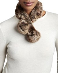 Belle Fare Rabbit Fur Neck Warmer Natural Brown Natural Brown