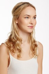 Cara Accessories Beaded Headwrap Metallic