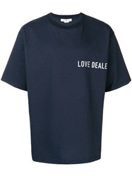 Golden Goose Deluxe Brand Smith Oversized T Shirt Blue